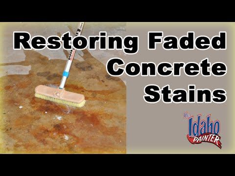 Repairing or maintaining color concrete. Adding a clear coat to faded colored concrete to bring back color and sheen. Make your faded concrete look new again...