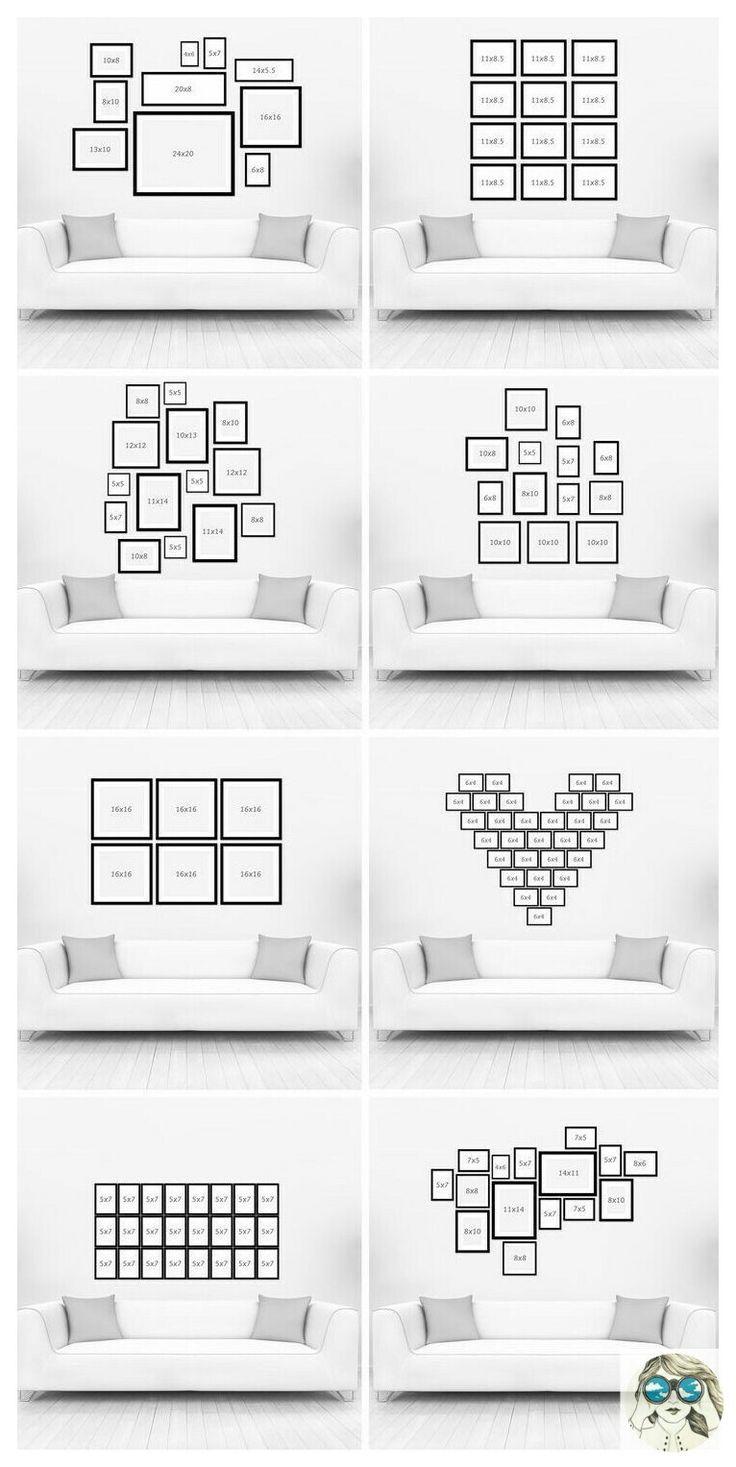 Photo groupings. Você sabe como decorar com quadros da maneira certa??? Segue os exemplos de inspiração!!!