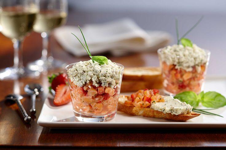 Tartare de saumon, fraises et Boursin® Bouquet de basilic & Ciboulette | Inspiration | Boursin