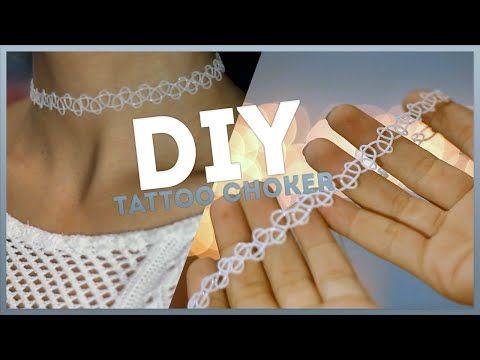 DIY: Tattoo Choker. Как сделать тату чокер? - YouTube