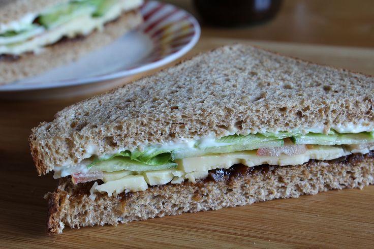 Cheese Ploughman's Sandwich