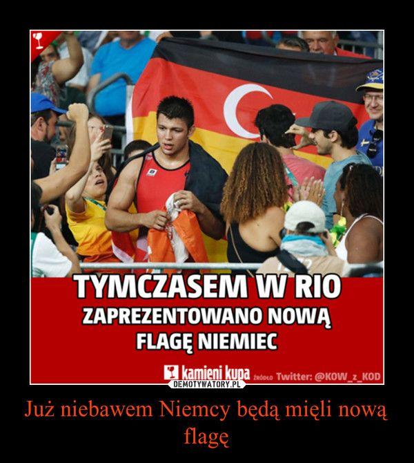 Тем временем в Рио показали новый флаг Германии