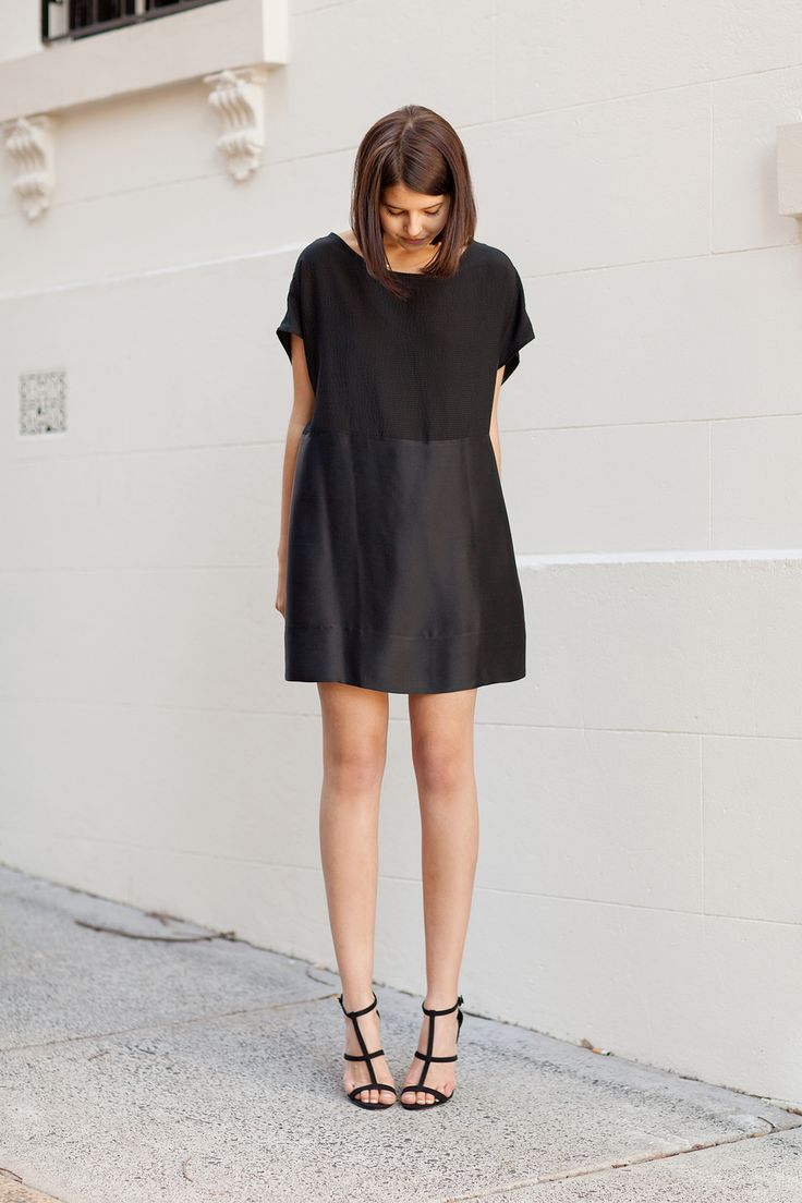 Classic LBD with black strappy heels