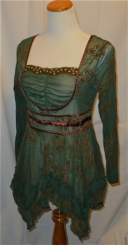 New The Pyramid Collection Green Renaissance Tunic, $22 Beautiful....she should have charged much more