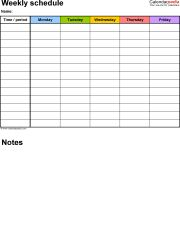 25 unique weekly schedule template excel ideas on pinterest weekly schedule template for pdf version 5 portrait 1 page monday to friday pronofoot35fo Image collections