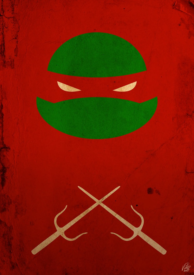 TMNT Raph poster Art Print by Fabvalle