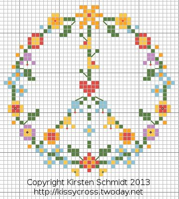 #cross #stitch #pattern #peace #flower