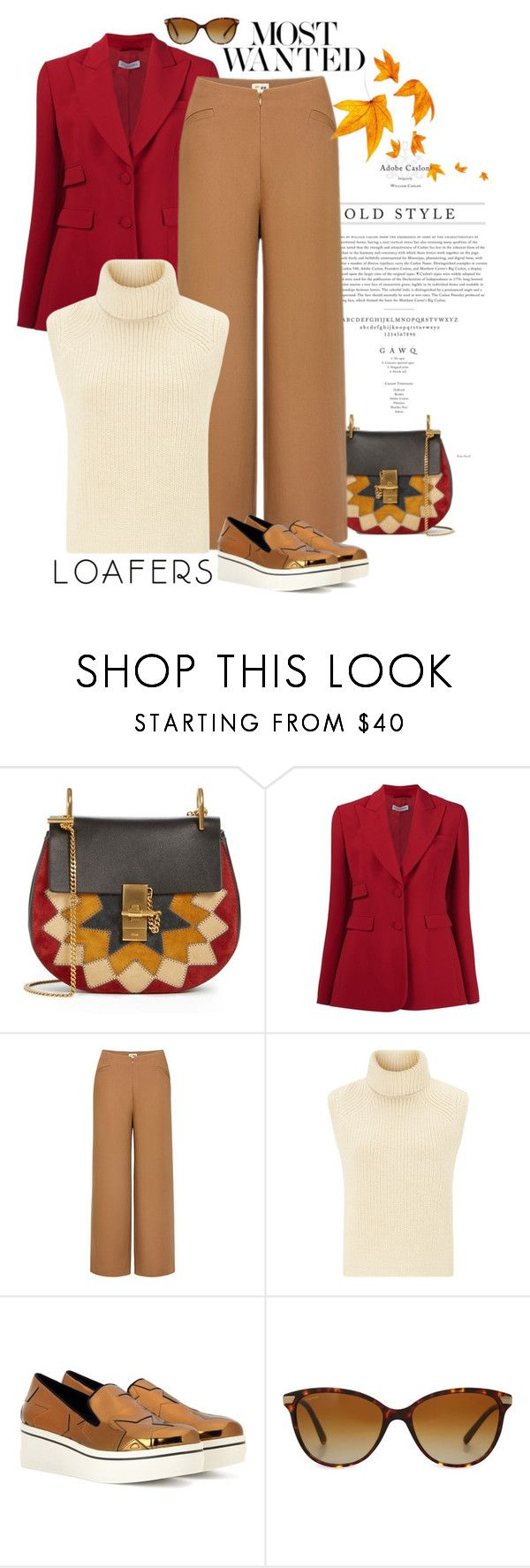 """""""Fall Footwear Trend: Loafers"""" by frechelibelle ❤ liked on Polyvore featuring Behance, Chloé, Altuzarra, Uniqlo, Étoile Isabel Marant, STELLA McCARTNEY, Gianvito Rossi, Burberry, loafers and metallic"""