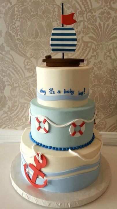 baby shower for a boy - SUPER CUTE! could probably use as inspiration for nautically themed room.
