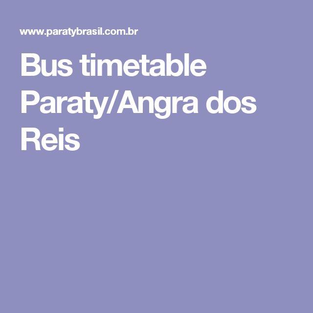Bus timetable Paraty/Angra dos Reis