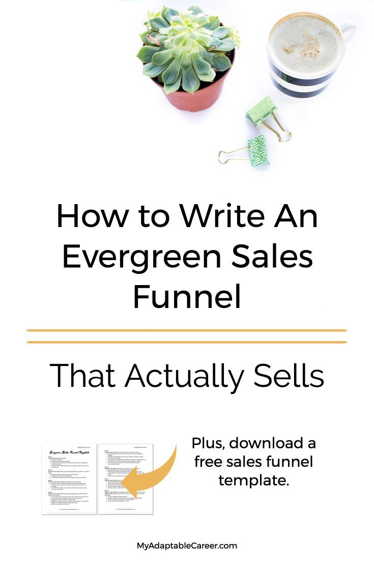 Get a free sales funnel template and sales funnel ideas for your marketing funnel. #salesfunneltips via @adaptablecareer
