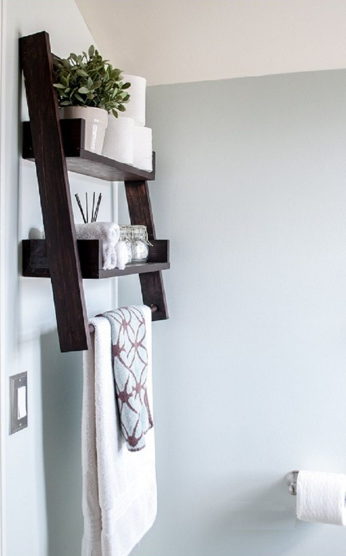 diy floating ladder shelf with plans woodworking session rh pinterest com