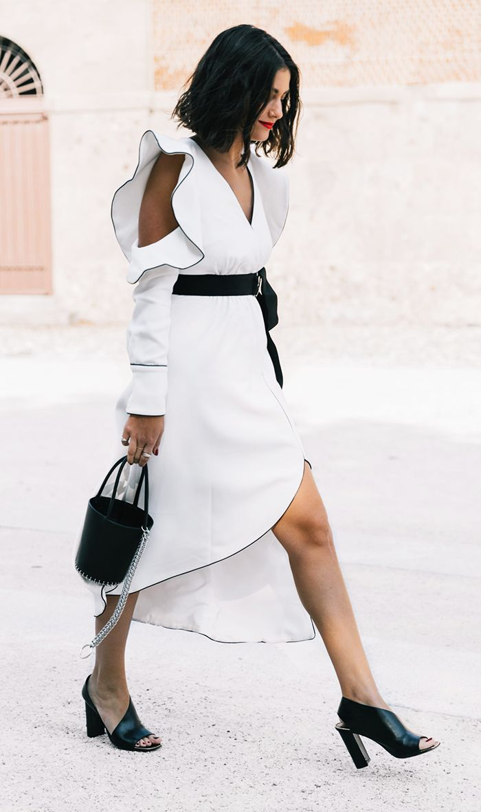 These black and white outfits are so stylish, they'll convince you to forget all about color.