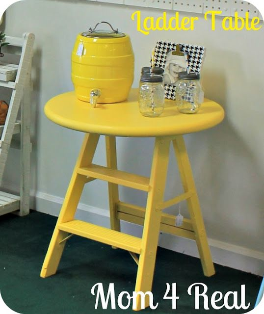 Ladder table, what a cute idea!