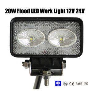 20W Flood LED Work Light OffRoad Jeep Boat Truck IP67 12V 24V
