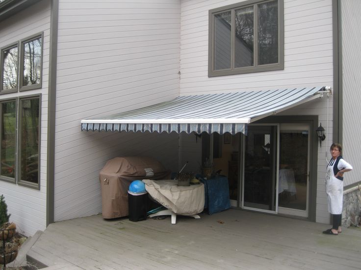 Wonderful Here Is The Before Photo Of A Retractable Awning That We Did The Recover!  Check