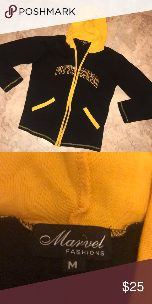 Pittsburgh Bling Hoodie Perfect for Steelers, Pens, and Pirates games! Feel free to make an offer or ask questions😊 Marvel Fashions Tops Sweatshirts & Hoodies