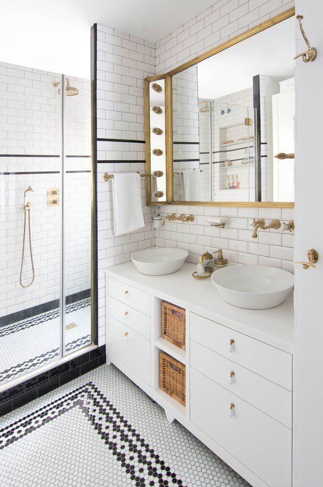 this genius tile trick is a game changer for budget bathrooms rh pinterest com