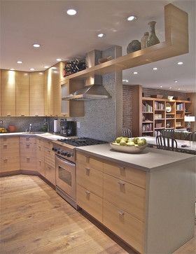custom rift oak cabinets Tribeca Loft Kitchen - contemporary - kitchen - new york - Minion Gutierrez