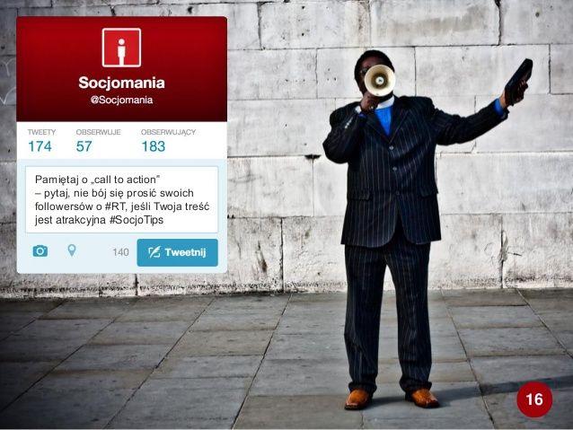 50 Twitter Tips (16). Cała prezentacja: http://www.slideshare.net/Socjomania/50-porad-jak-dziaac-na-twitterze  #Twitter #TwitterTips #SocialMedia #SocialMediaTips
