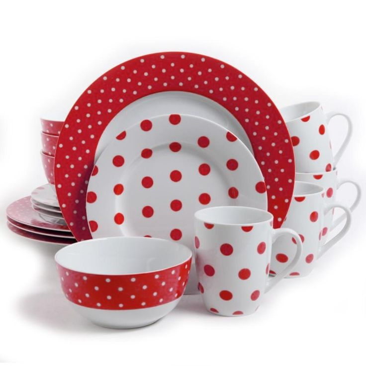 Isaac Mizrahi Dot Luxe Red Polkadot Porcelain Dinnerware Set. The Isaac Mizrahi Dot Luxe 16 Piece Dinnerware Set is a distinct and striking blend of form and function. These durable and elegant ceramics comes in a variety of gorgeous patterns in either: Orange, Navy, Chartreuse, or Teal. Take your next dining occasion to a higher level of sophistication and fun with these wonderful and eye-catching pieces. Each set comes complete with 4-each of stunning dinner plates, salad plates, bowls and…