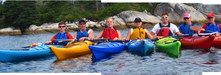Kayaking in St margarets Bay, Nova Scotia.