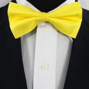 Yellow Bow Tie Set / Wedding Bow Tie Set