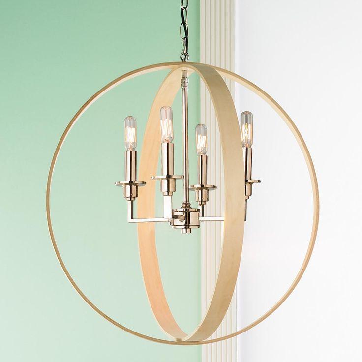 Wood Rings Orbit Chandelier 176 best Lighting