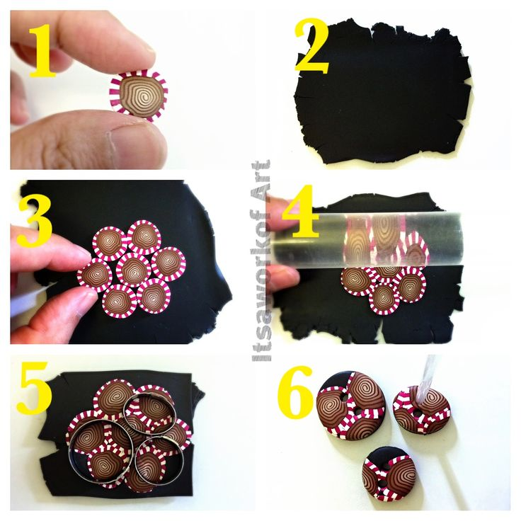 Make button using Polymer Clay