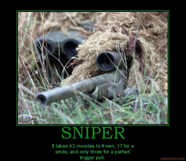 demotivational poster SNIPER. :D