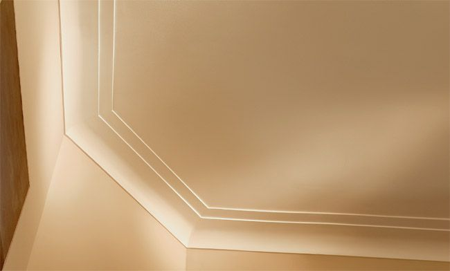 Modern crown molding idea lape family room pinterest - Contemporary trim moulding ...