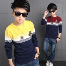 Boys Sweaters Striped Children Clothing Autumn Knitted Sweaters For Boys Clothes 2016 Teens Christmas Knitwear 5 7 9 11 13 Years(China (Mainland))
