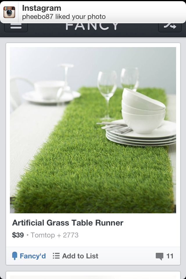 AstroTurf table runner! Thefancy.com