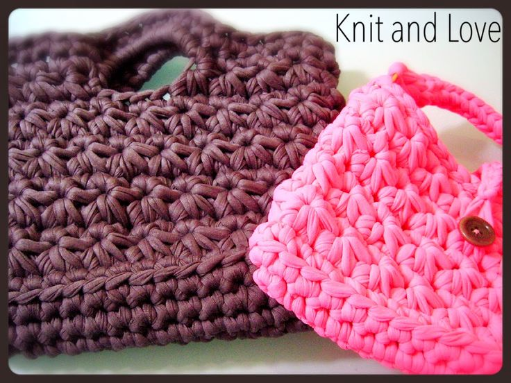 Knit and Love : PASO A PASO CESTO DE TRAPILLO PUNTO FLOR