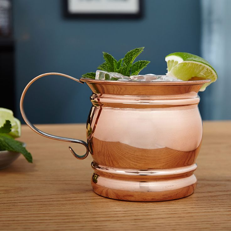 Add a truly distinctive piece to your barware collection with our Stout Moscow Mule mug. Featuring a traditional look and solid copper construction, these Moscow Mule cups add a touch of class and refinement to any type of beer or cocktail. Whether enjoying a tradition vodka Mule, a whiskey based Kentucky Mule, or any other libation, this Moscow Mule mug will add an impeccable touch to your drink time. Measuring 3.75 x 6 x 4.25 , this classic container holds 16 oz. Hand wash only.