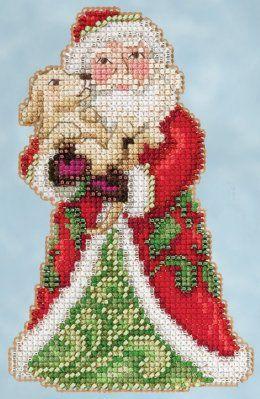 Mill Hill 2015 Winter Series Best Friend Santa - Jim Shore Beaded Cross Stitch Kit