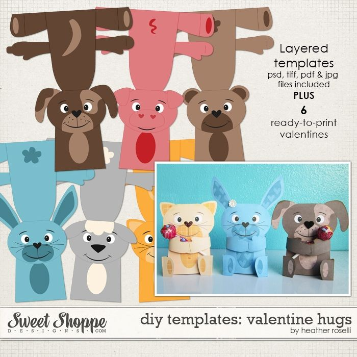 DIY Templates: Valentine Hugs by Heather Roselli