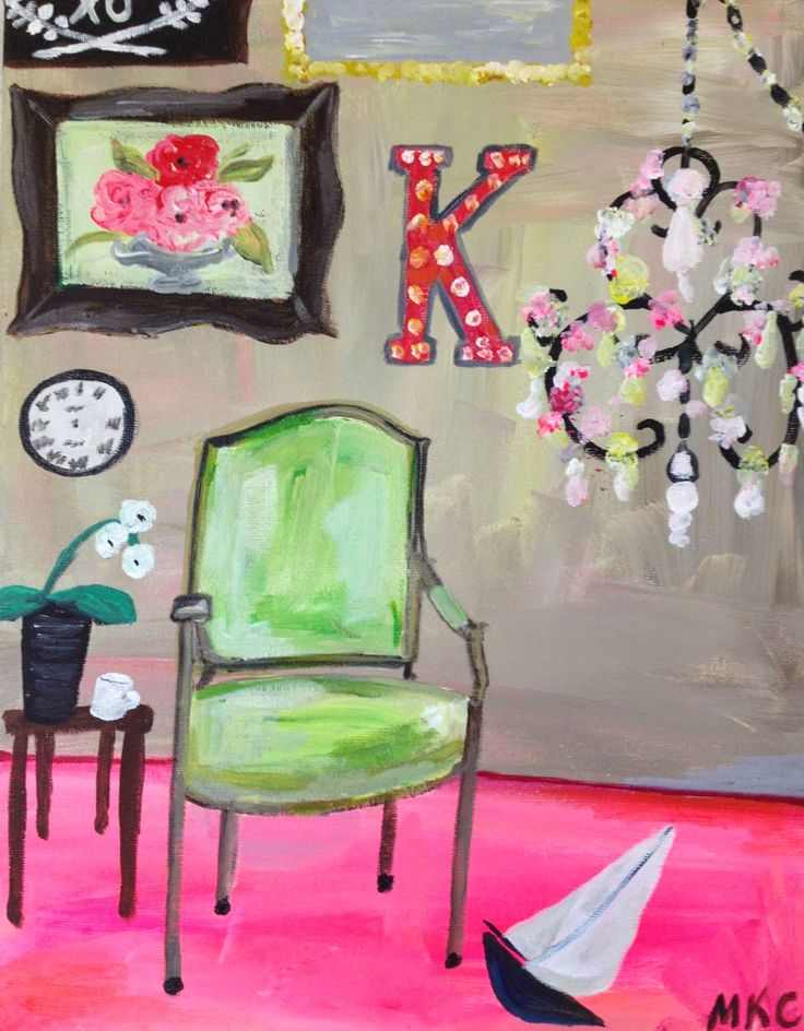 Sitting Room K Greeting Card Duplicate