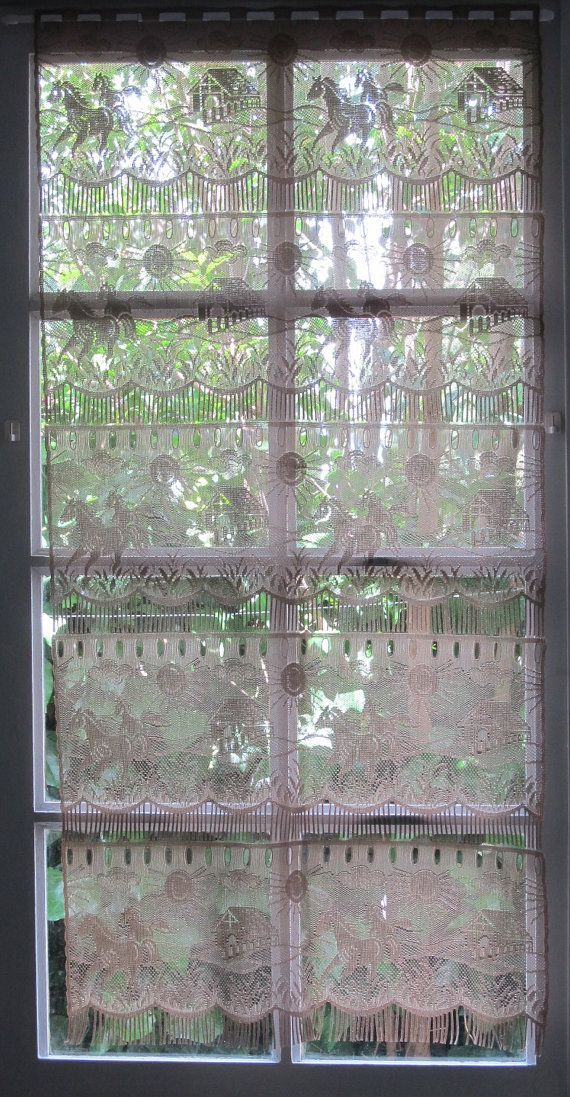 Picture Lace Door Window Curtains Green Lace Curtain