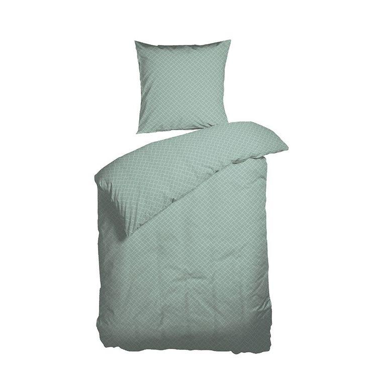 Nordisk Tekstil sengesæt Teis 140x220 cm grøn - Aktuelt - GODE TILBUD