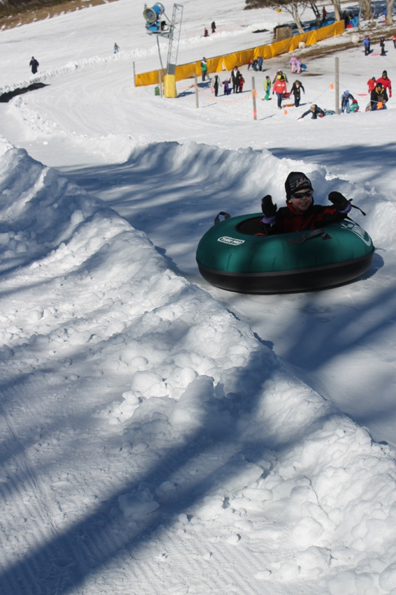 Snow Australia - tube track... downhill fast! Selwyn Snowfields, New South Wales #snowaus