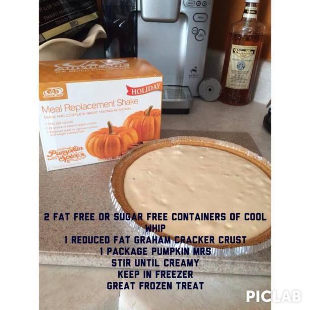 Make #pumpkin pie using #AdvoCare #Pumpkin Spice MRS!
