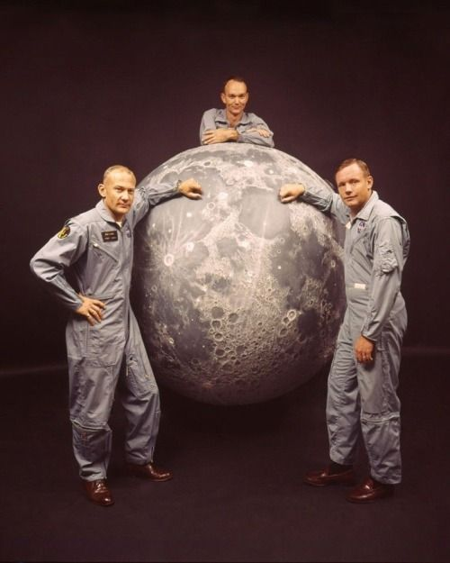 Apollo 11 astronauts Buzz Aldrin, Mike Collins, and Neil Armstrong, 1969. (ebay)