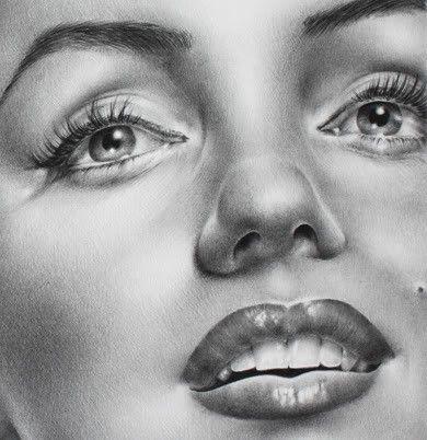 Marilyn Monroe lápiz dibujo arte grabado mano por IleanaHunter