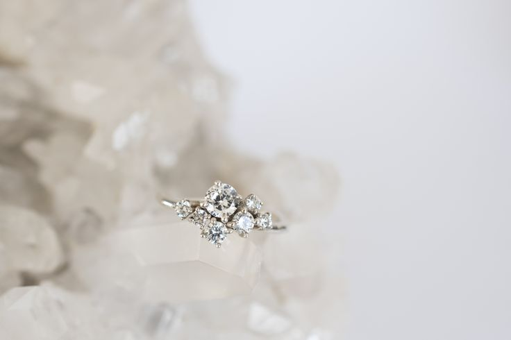 one of a kind diamond cluster ring. The best engagement rings are original ones - made by 27JEWELRY