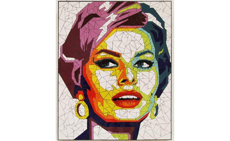 Sophia Loren mosaic portrait