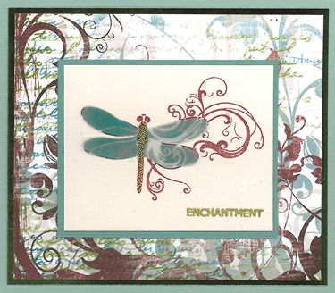 Stamp-it Australia: 4218E Dragonfly Swirl, siset032 - Card by Susan