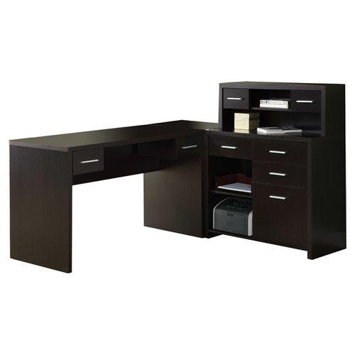 Monarch Specialties Inc. Clarendon Corner Desk with Hutch & Reviews   Wayfair