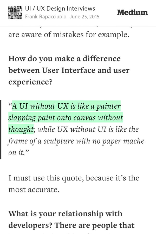 A UI without UX is like a painter slapping paint onto canvas without…