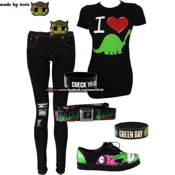 Emo/scene clothes